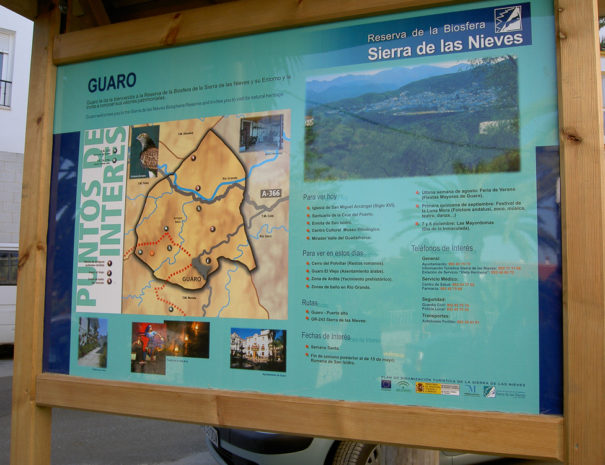 Wandelroutes bord Sierra de las Nieves