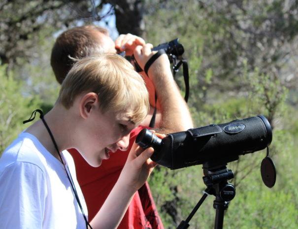 Vogels kijken telescoop